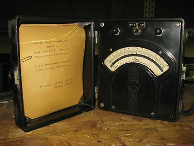 Vintage Westinghouse Portable Ac Average Voltmeter Type Pn-35 Tag 16