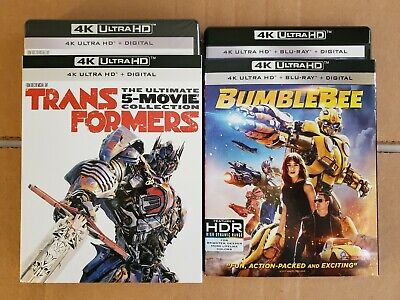 LIKE NEW! - Transformers 6-Movie Collection: w/Mint Slipcovers (4K HD & Blu-ray)
