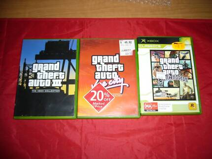 Xbox Grand Theft Auto 3 - Vice City - San Andreas Double Pack 3