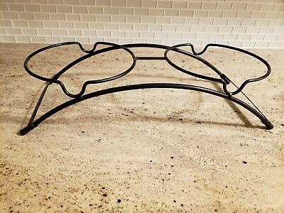 Black Metal Frame For Raised Dog Dishes Bowls Large to XL Size