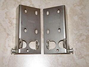 Universal Garage Door Bottom Bracket Cable Bracket Pair New