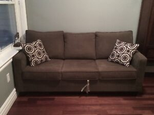 Olive Green Sofa Bed Sleeper - Great Condition