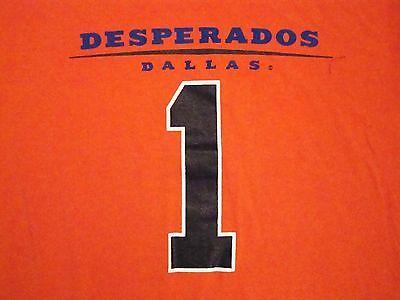 Dallas Desperados Arena Football Discover Card Sponsor Orange T Shirt L