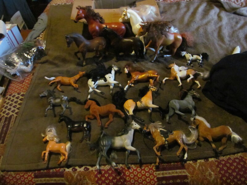 19 Fabulous Vintage & Modern Larger Horse Figures - Breyer & More - Must See!!!!