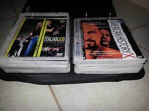COLLECTION OF 62 DVD MOVIES IN CARRY CASE, ACTION, COMEDY, MUSIC Carrum Downs Frankston Area Preview