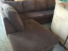 Chocolate brown fabric Corner Lounge chaise Plumpton Blacktown Area Preview