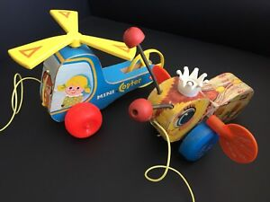 Vintage Fisher Price toys 70's pair collectible.