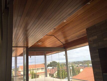 Cedar ,PVC , Timber linings , Weather boards , Cladding.