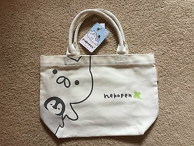 Exclusive Line Phone App Pop Up Store Shibuya Nekopen Canvas Tote Bag Purse