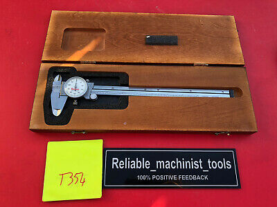 American Made Starrett White Face 9 In Dial Caliper Model 120 T354