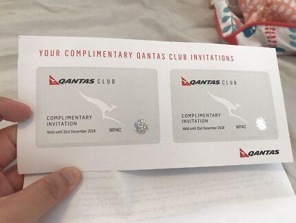 2x qantas club lounge pass (free express post)