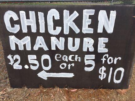 Bagged chicken manure