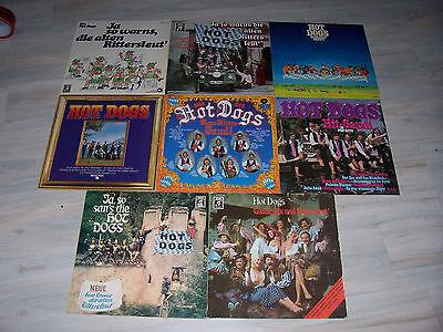 Sehr schöne HOT DOGS - Sammlung / Collection mit 9 verschiedenen LPs ! !