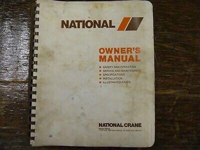 National Series 4 Crane 4t25 4t27 4t33 4t46 4t55 Shop Service Repair Manual