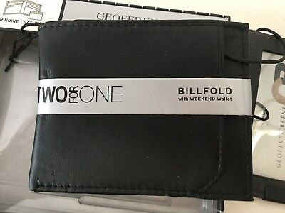 Weekend Wallet - Geoffrey Beene Billfold with Weekend Wallet Two for One Genuine Leather New