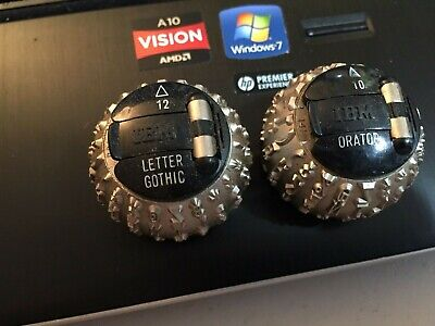 Pair Of Gently Used Ibm Selectric I Ii Element Balls Orator And Letter Gothic