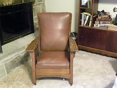 Antique Quatersawn Oak Morris Chair Original Royal Easy Chair ROYAL CHAIR COMPAN on Rummage