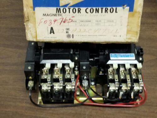 I.T.E.   Motor Control A22C Size 1, 3 Ph, 480V 60 Cycle