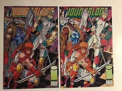 1992 Image Comics Young Blood #0 Lot Of 2 A And B Covers