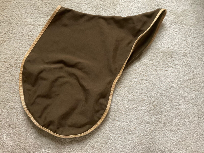 Triple Crown Jumping Saddle Cover. Brown nylon w/tan trim. Very good cond.