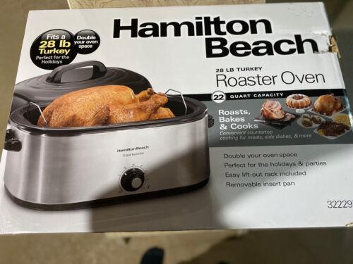 Hamilton Beach 28 lb Turkey Roaster Oven 22 Quart Capacity E