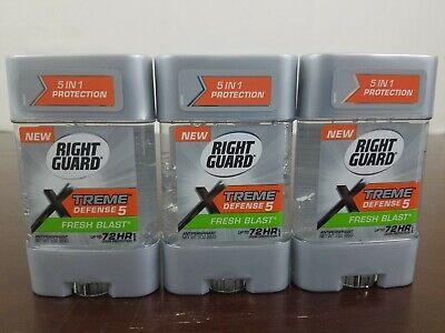 Power Gel Blasts - Right Guard Total Defense 5 Power Gel Antiperspirant Fresh Blast 3 oz, Pack of 3