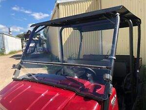 2009-2019 KAWASAKI MULE 4000,4010 TRANS 1/4 POLYCARBONATE FLIP UP WINDSHIELD