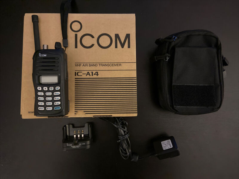 Icom IC-A14 VHF Airband Transceiver with MOLLE Pouch