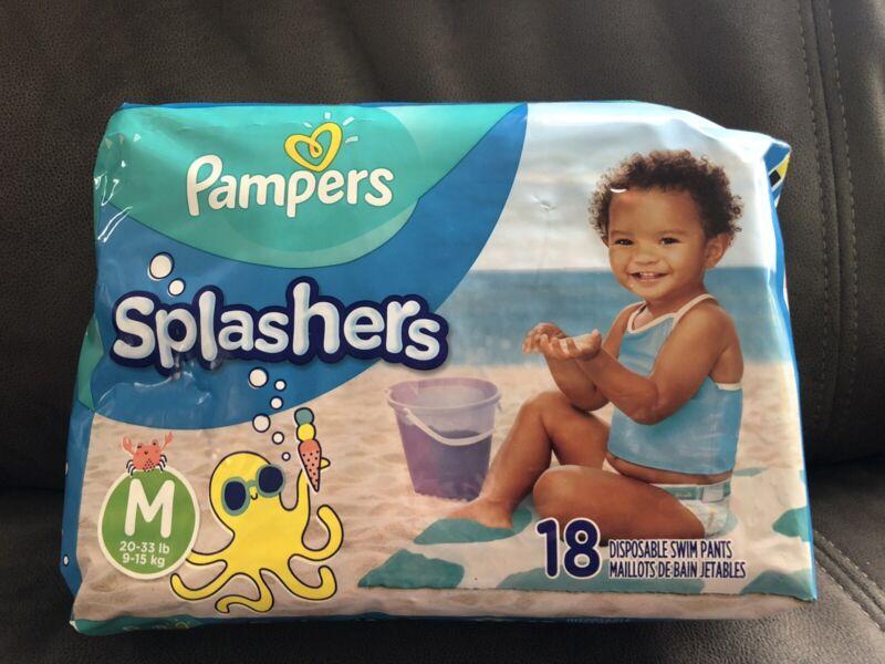 Pampers Splashers Swim Diapers 18 Count Size Medium