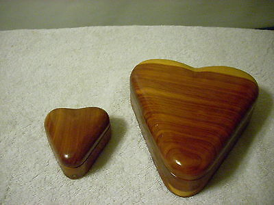 Heart Shape Hand Made Wood Jewelry Box. 2 (Heartwood Jewelry Boxes)