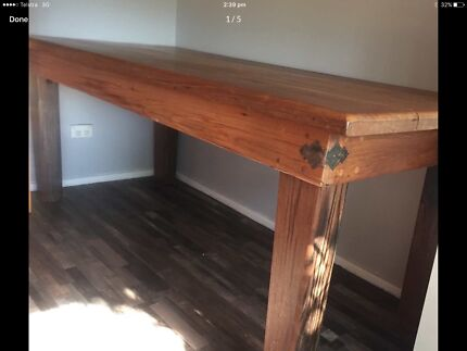 BARGAIN KAURI TIMBER TABLE OR DESK SOLID HEAVY