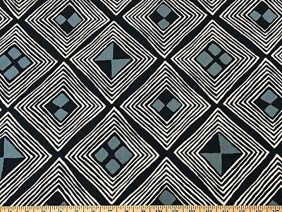 MALI KUBA ADMIRAL ROBERT ALLEN Cotton Print Upholstery/Drapery Doamond Fabric