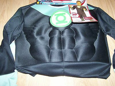 Boys Size Large 12-14 Justice League Green Lantern Halloween Costume Jumpsuit 3D (Boys Green Lantern Costume)