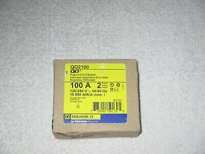 Square D Qo2100 Circuit Breaker 100 Amp 2 Pole 120240v Plug-in