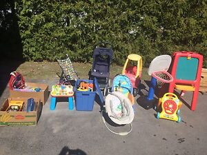Toys and strollers