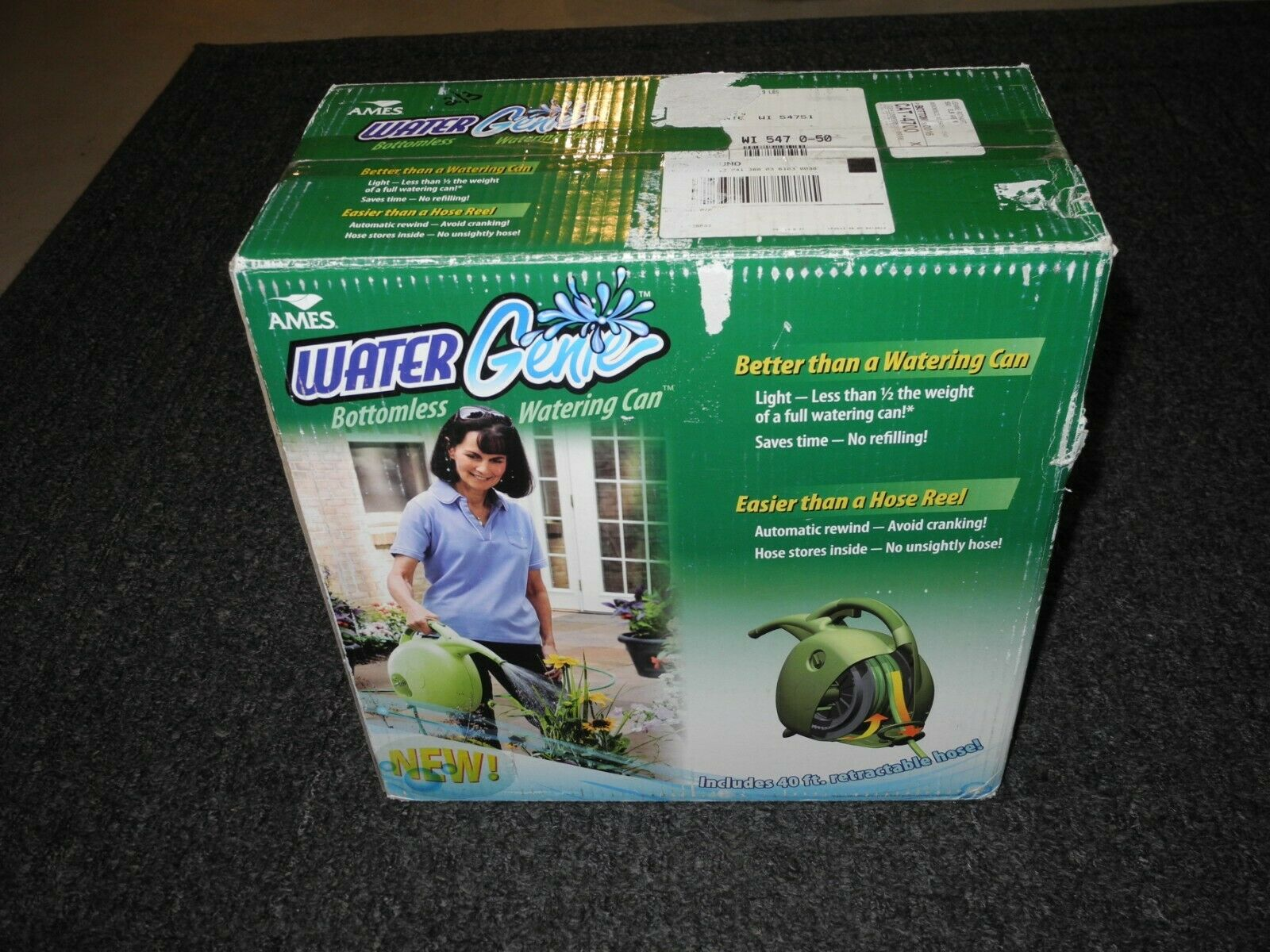 new in box water genie hose retractable