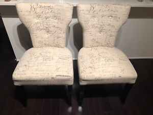Dining / Accent chairs x 2