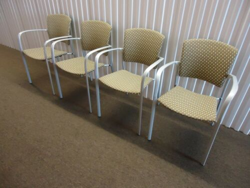 Brayton International Enea Stacker Armchair Set of 4 Guest Chairs, Josep Llusca