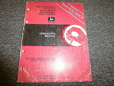 John Deere 7000 Conservation 4 6 Row Planter Owner Operator Manual Oma45513