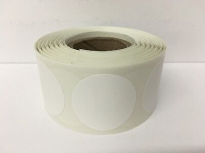 500 Labels Round 4 Blank White Color Coded Thermal Transfer Inventory Stickers