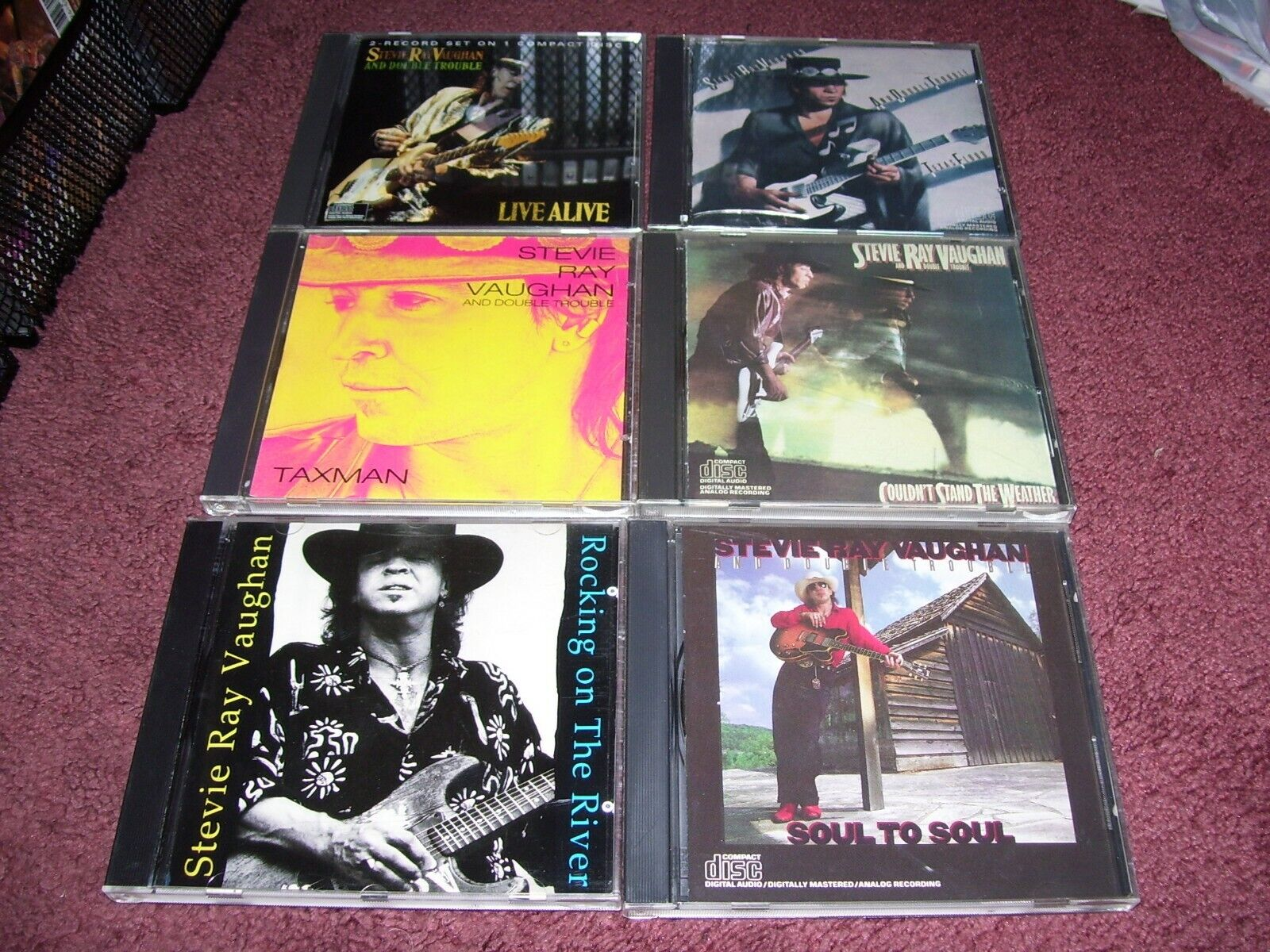 Lot Of 11 Stevie Ray Vaughan CDs  - $59.99