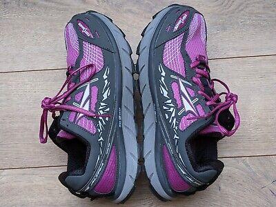 Womens Altra Lone Peak 3.5 Grey/Purple Cushioned Rugged Trail Running Shoes US...