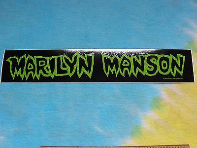 Marilyn Manson Green Logo 8.5 Inch Sticker