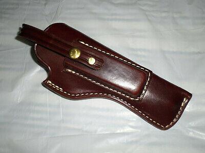TRIPLE K Leather Packer Holster 39-20  5 1/2 Walnut Oil for Browning Buckmark