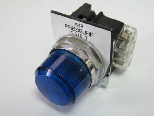 BLUE PILOT LIGHT W/ CUTLER-HAMMER 10250T/91000T