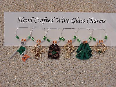"Подвески Wine Glass ""ST PATRICK'S DAY""IRELAND"