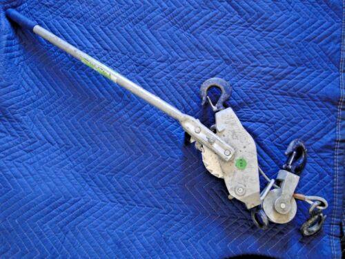 LINCOLN HOIST 10 ft Double Line Cable Ratchet Hoist 4000 lb/2 Ton LH4000-20-DR