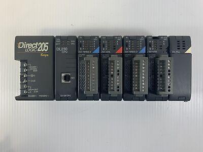 Koyo Direct Logic 205 Plc Rack D2-06b-1 Automation Direct Dl320 Cpu