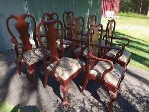 Antique Cedar carver chairs