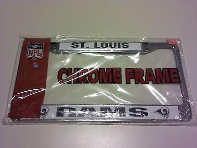 St. Louis Rams Chrome Metal License Plate Frame NFL NIP NFC - Louis Rams Chrome License Plate